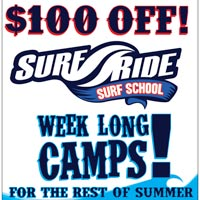 $100 Off Surf Ride Summer Camps :)