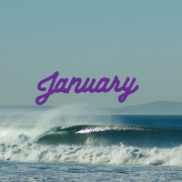 2014 January Calendar Desktop Download Surf Ride